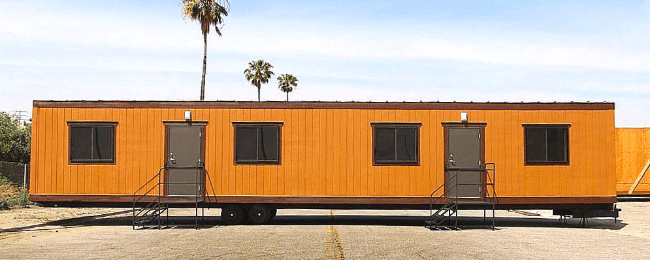 Used mobile office trailers for sale used modular buildings for Mobile office trailer with bathroom